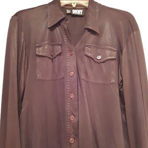 DKNY button up blouse- vintage